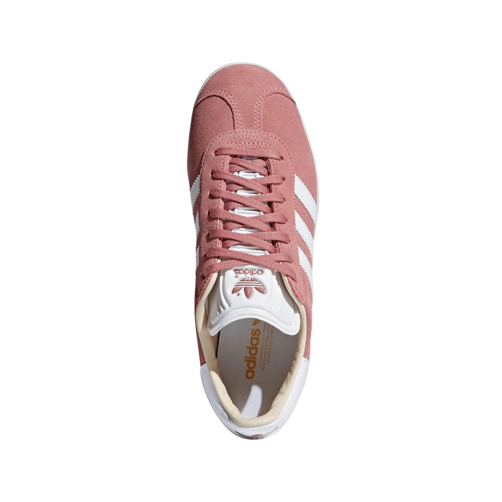 Sneakers cuir vieux rose talon reptile rayures blanches