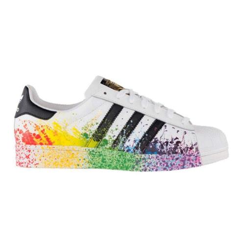 adidas superstar lgbt pride pack white/black rainbow d70351